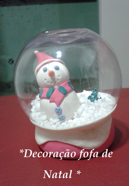♥ DIY: Globo de neve. #decoraçãofofa