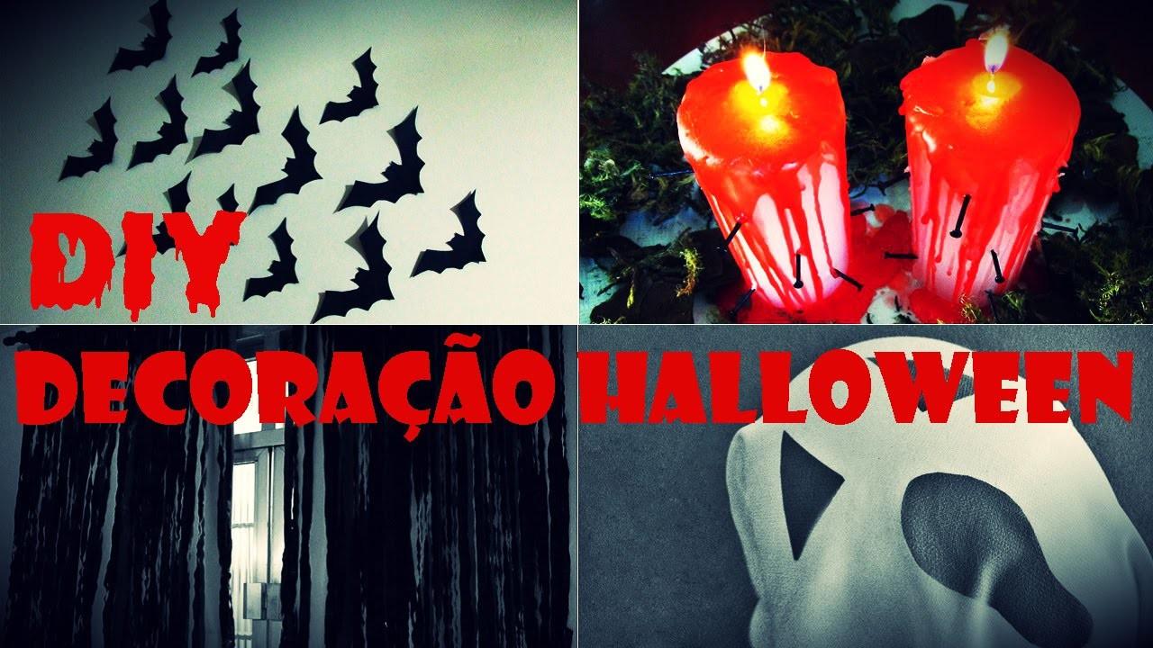 DIY: Ideias de Decoração Festa de Dia das Bruxas - Halloween Decoration Ideas!