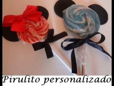 DIY : Pirulitos personalizados do Mickey e da Minnie.