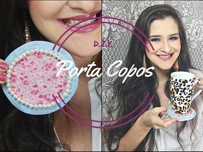 DIY: Porta copos com pérolas por Priscilla Peixe. (Decoração)