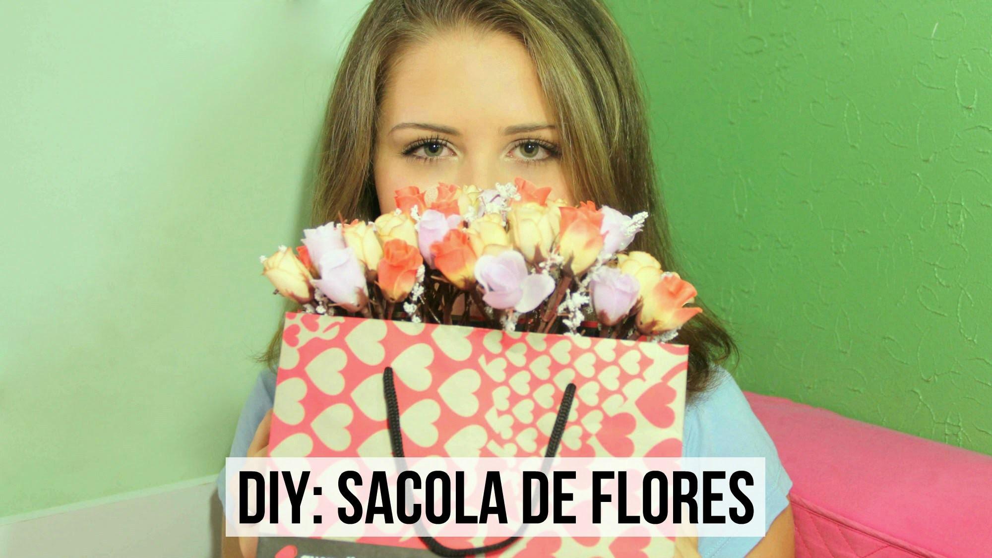 DIY: Sacola de flores, opção de presente para o Dia das Mães | T de Tagarela - Tainá Santos