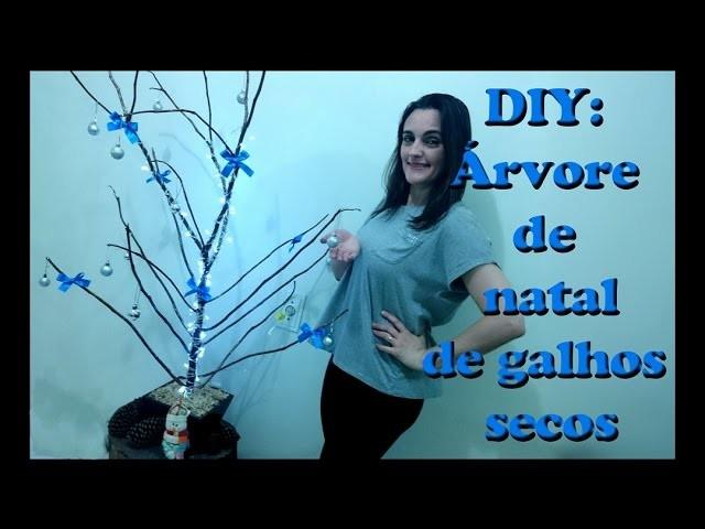 DIY: Árvore de natal de galhos secos