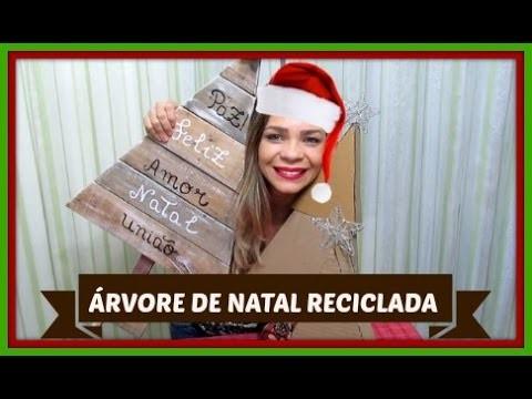 DIY: ÁRVORE DE NATAL RECICLADA.LETICIA ARTES
