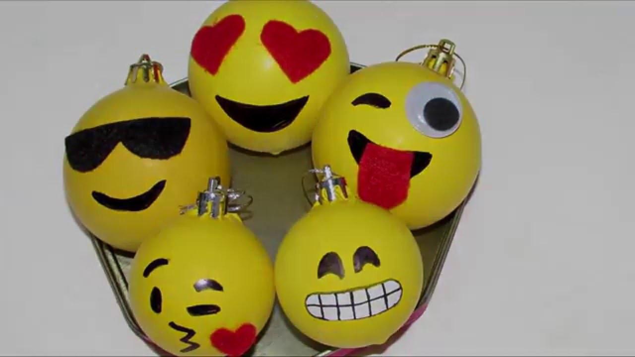 DIY: bolas de natal emoticon