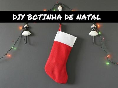 DIY BOTINHA.STOCKING DE NATAL SEM COSTURA + NOVIDADES!