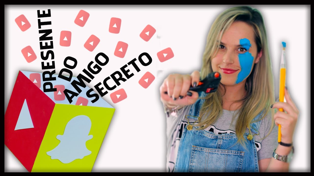 DIY: Lixeira Redes Sociais - AMIGO SECRETO DIY