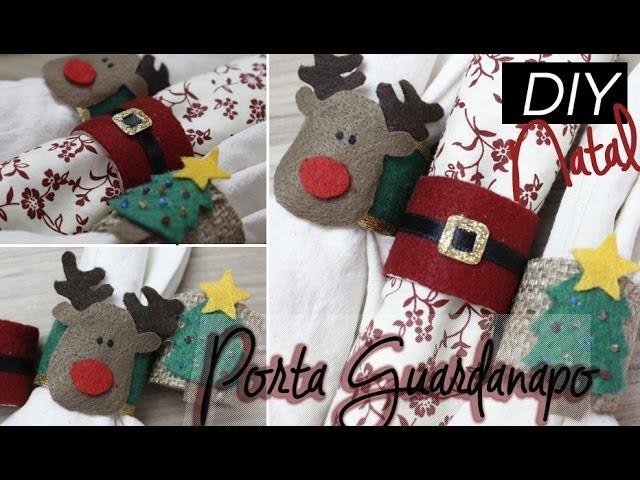 DIY natal | Decoração de mesa | Porta guardanapo | Reciclagem | Lilian Luz