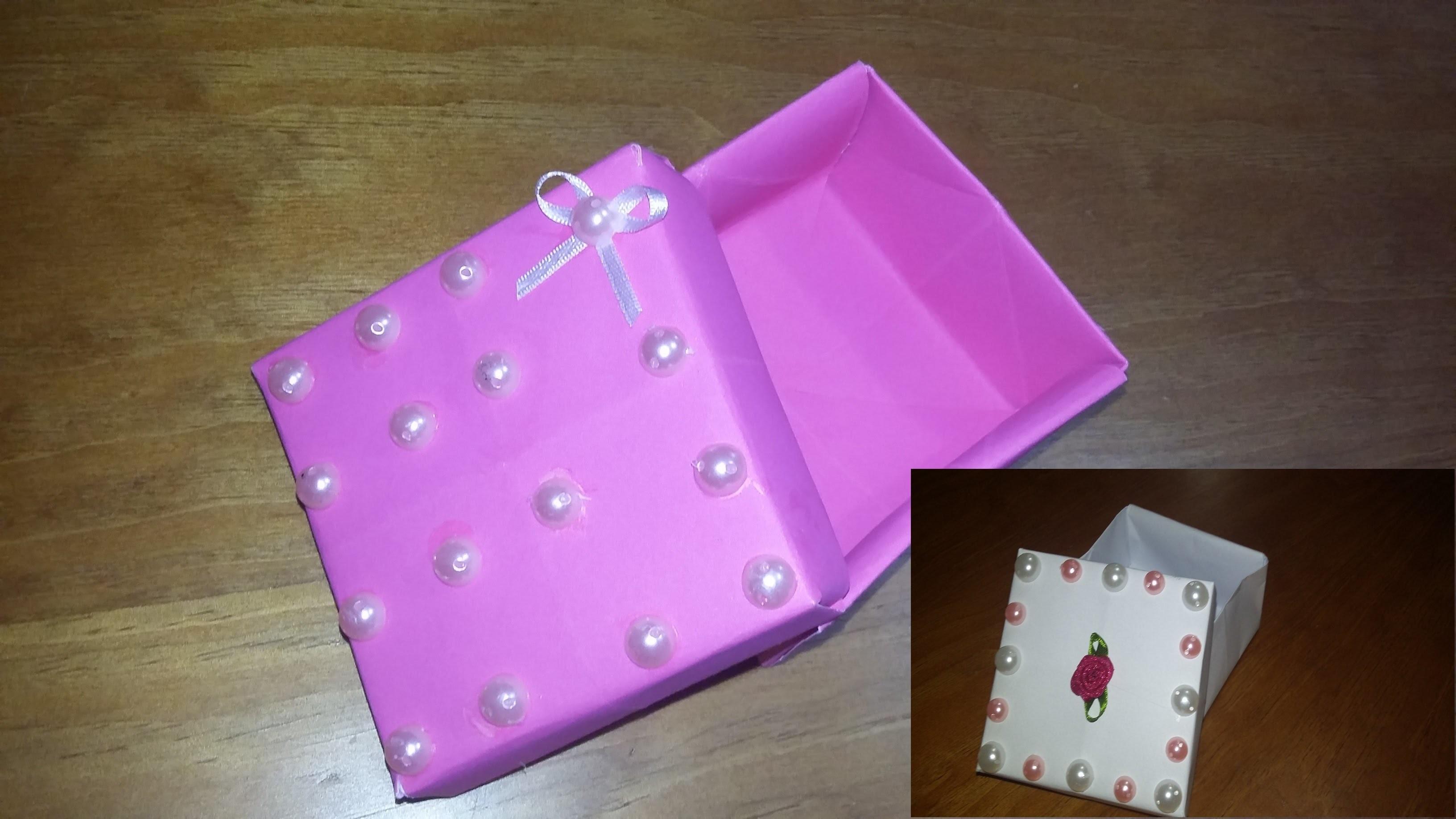 D.I.Y.Caixa  de Presente de Papel , Dobradura , Origami .