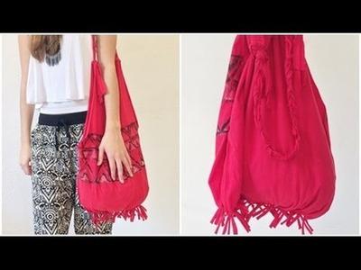DIY: Bolsa com camiseta (Sem costurar) | T-shirt Bag