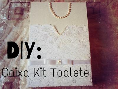 DIY caixa da Noiva para kit Toalete