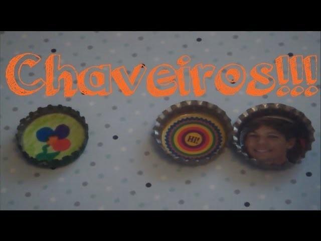 DIY - Capsters - Como fazer um chaveiro com tampinhas de garrafa