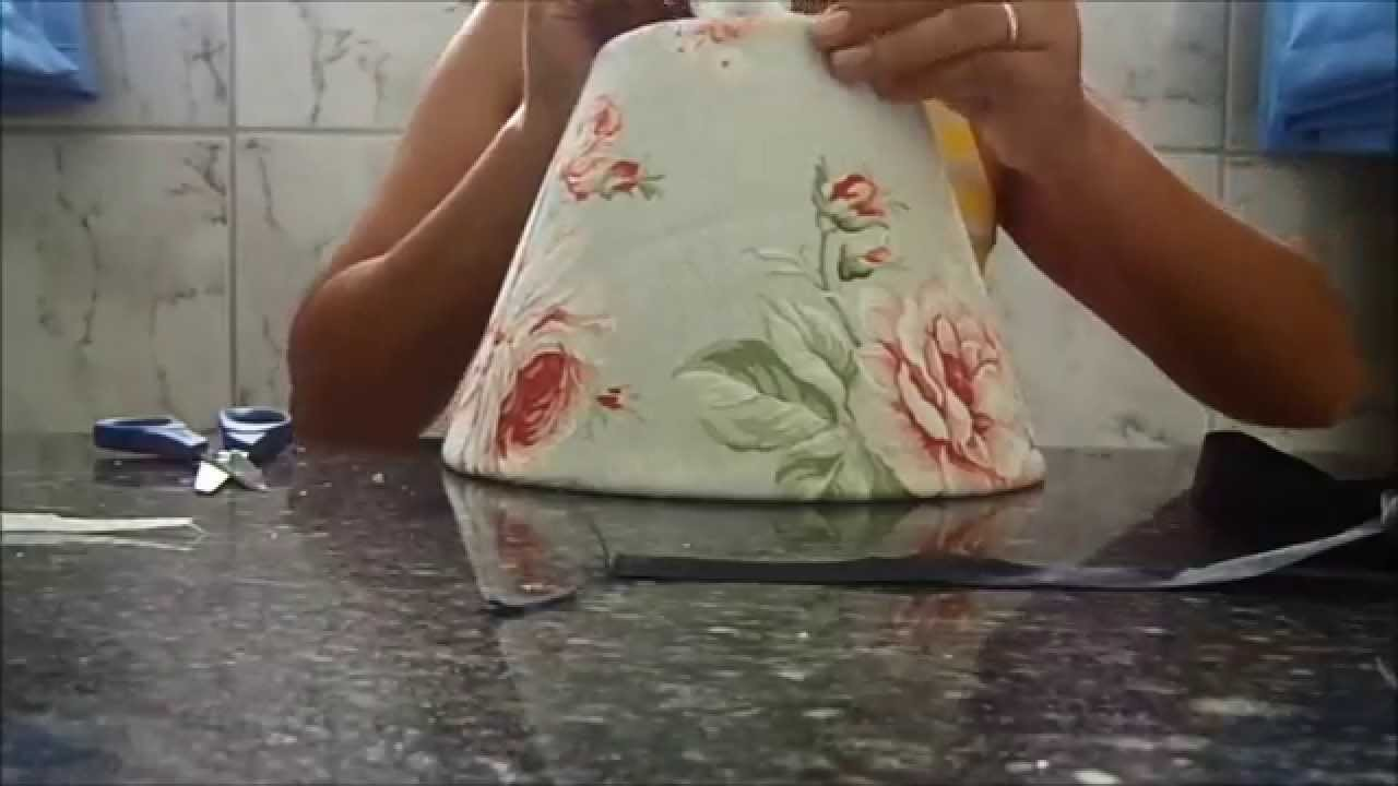 DIY:cúpula de abajur com tecido-passo a passo