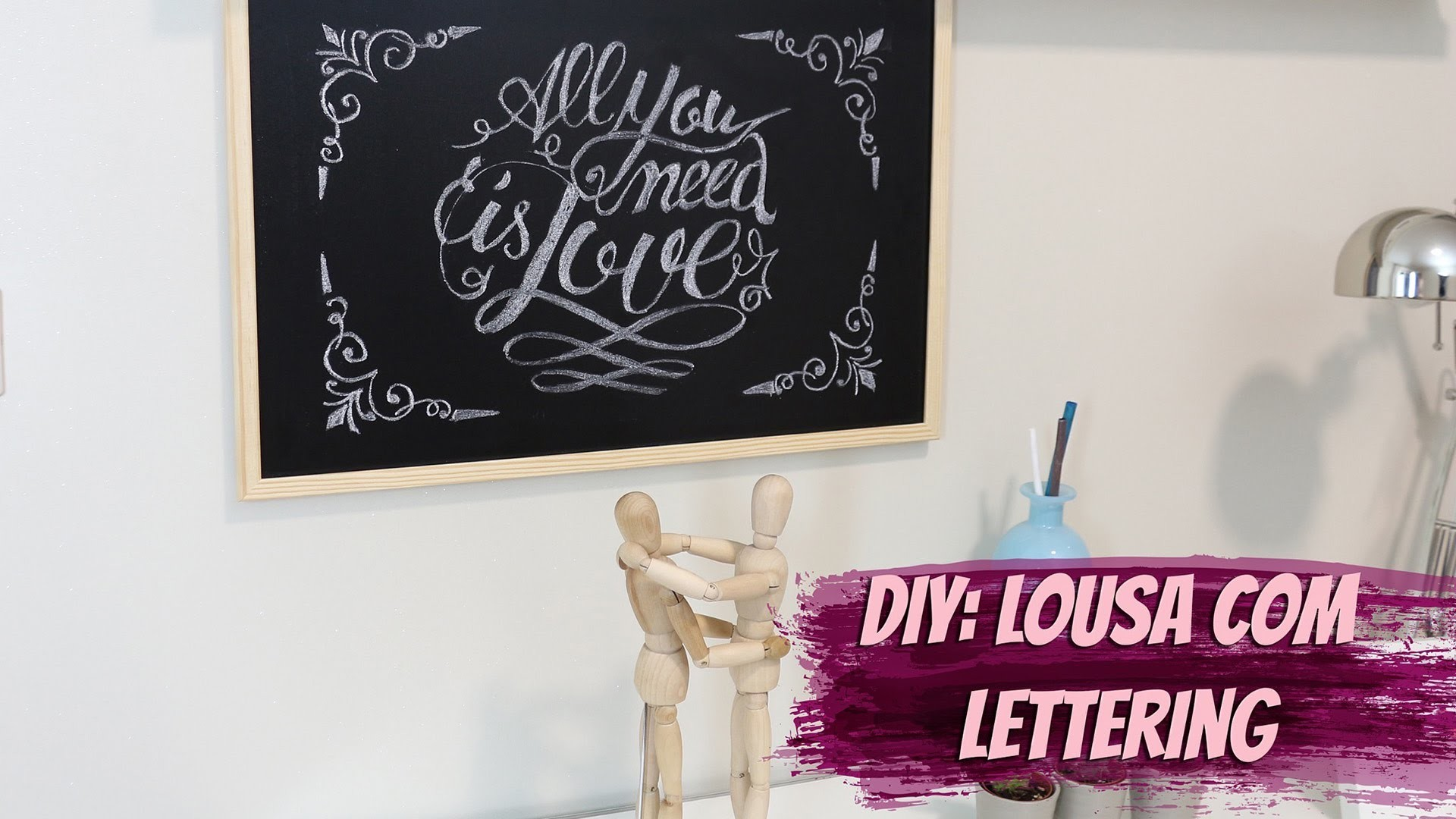 DIY - Faça seu próprio Lettering em lousa
