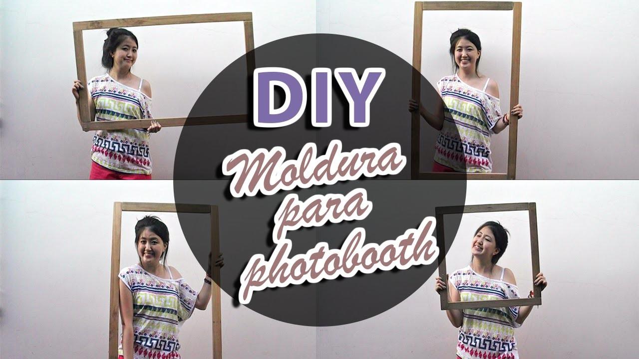 DIY Moldura de Madeira para Photobooth