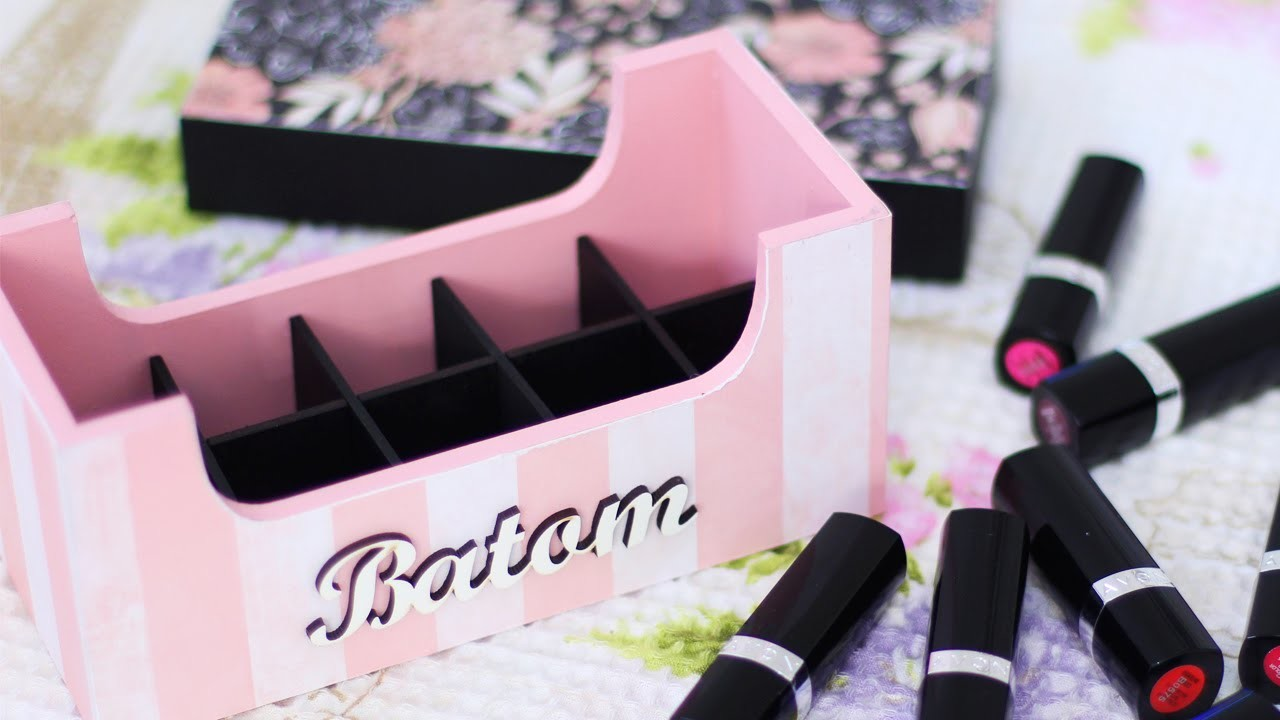 DIY - Porta Batom - Pintura em Madeira   Jana Taffarel