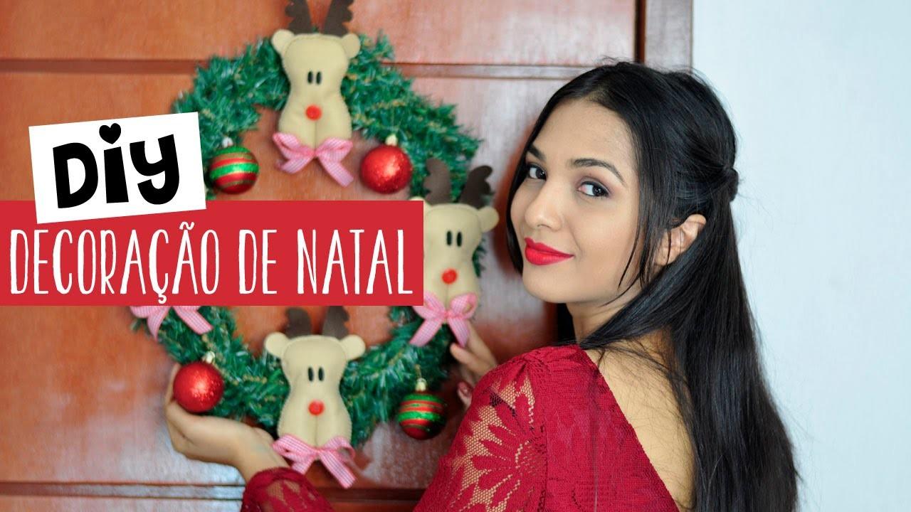 Diy Rena em feltro - Decoração de Natal
