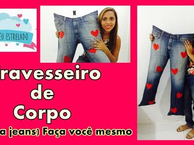 Almofada calça jeans DIY Passo a passo