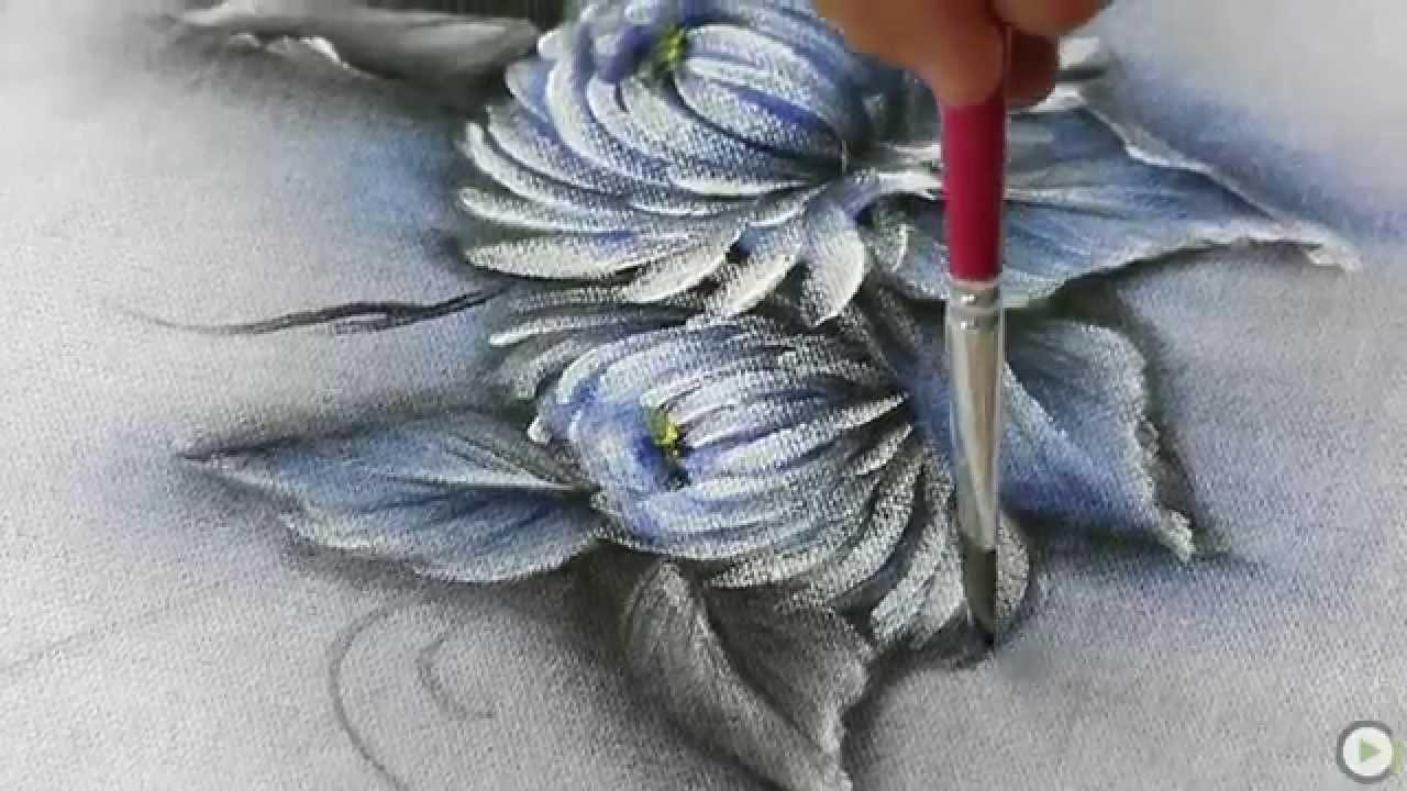 Canal do Artesanato - Pintura em Tecido Molhado