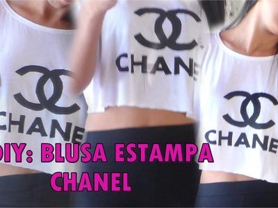 DIY: Faça você mesma Blusa estampa Chanel