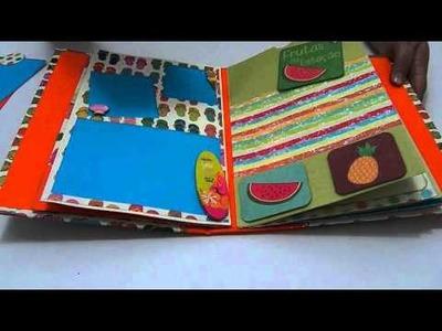 Álbum de Scrapbook com o tema CURTINDO UMA PRAIA