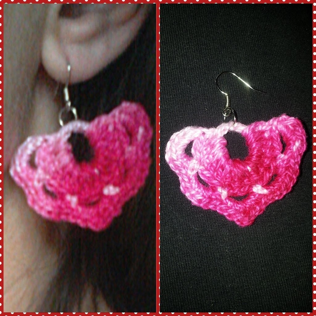 Pap de brincos de croche. Crochet earrings pattern