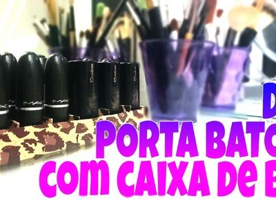 DIY: Porta batom com caixa de Bis por Manuela Peixinho