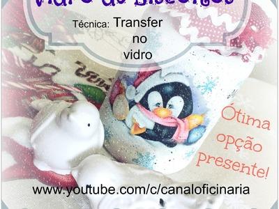 DIY Porta biscoito - Motivo Natal (transfer)