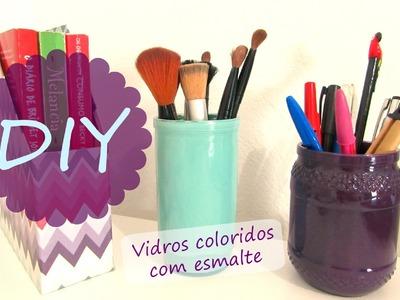 DIY - Vidros coloridos com esmalte