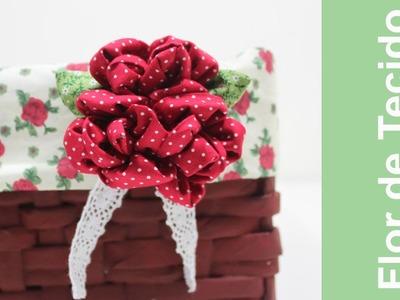 Artesanato em Tecido - Como Fazer Flor de Tecido  - Flor Tela -