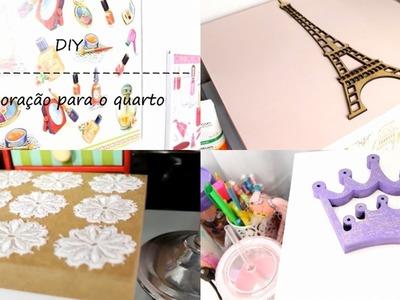 DIY - Decoração para o quarto Por Erika Cibelle
