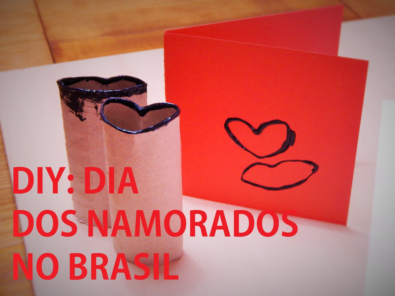 DIY (faça você mesma): Carimbo feito com rolo de papel | Dia dos namorados 2015