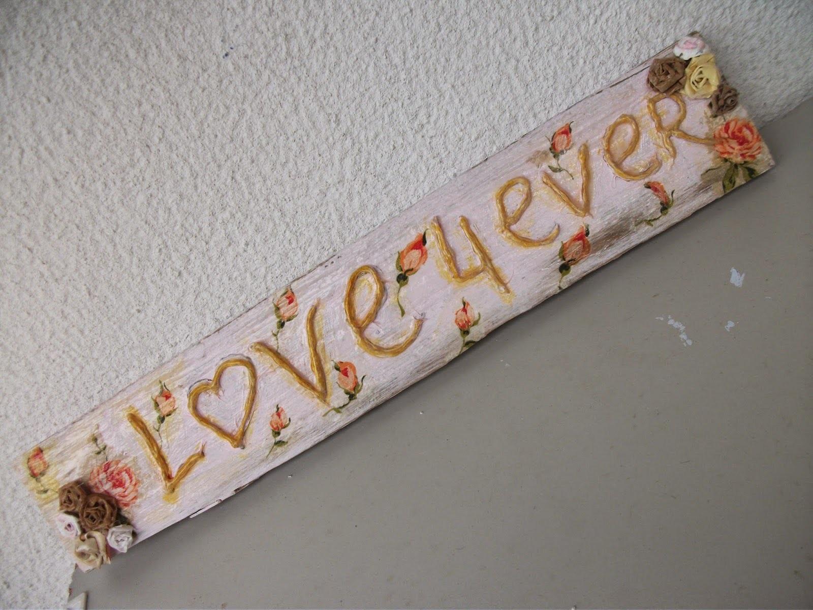 DIY: Faça você mesma uma  plaquinha de boas vindas  love4ever