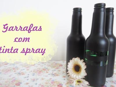 DIY : Garrafas + Tinta spray