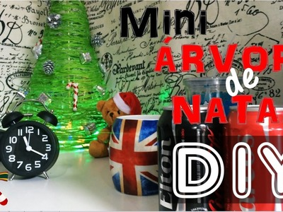 DIY Mini Árvore de Natal de Barbante