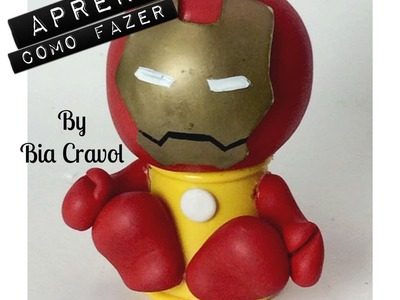 Homem de Ferro - Mini Baleiro - DIY - Aulas de Biscuit - Bia Cravol