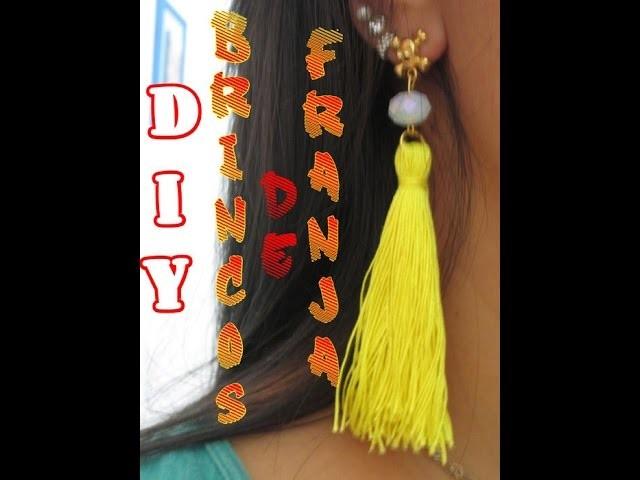 DIY:Aprenda a Fazer Brinco de Franja