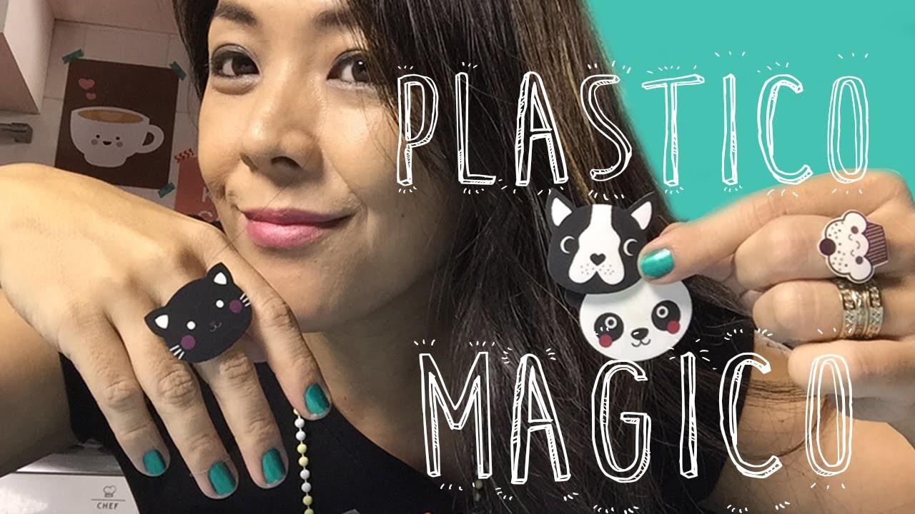 DIY Bijouterias e Enfeites com Plástico Mágico   CuteclubTV