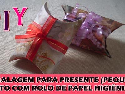 DIY: Embalagem para presente feito de rolo de papel higiênico