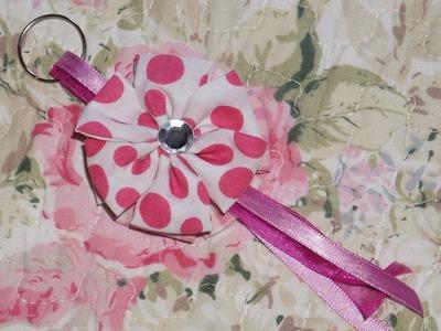 DIY-Faça você mesma: Chaveiro de flor de tecido! Por:.Michelle Rocha.