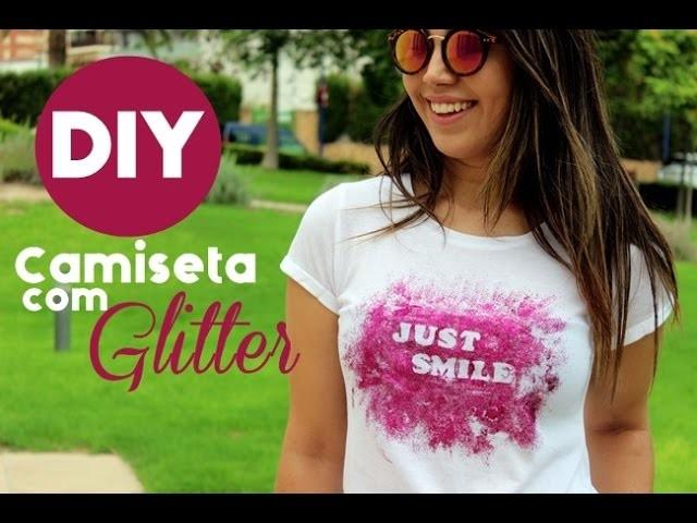 DIY - Faça você mesmo - Camiseta com Glitter | #VEDA