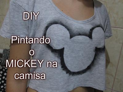 DIY - PINTANDO O MICKEY NA CAMISA - Faça você mesmo