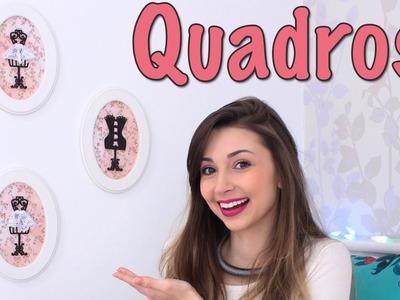 5380e63d44 DIY - Quadros para decorar seu quarto - Jana Taffarel