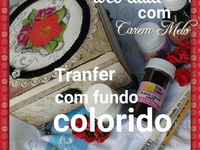 DIY - Transfer com fundo colorido (aula bônus) - aula 2
