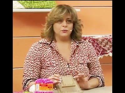 Almofada flor quadrada em tear com Marcia Ester | Vitrine do Artesanato na TV