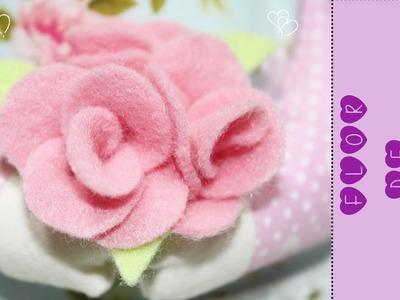 Artesanato Feltro - Flor de Feltro Fácil Como Fazer - Segredos de Aline