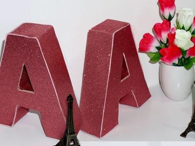 Diy -  Como Fazer Letra Decorativa em 3D