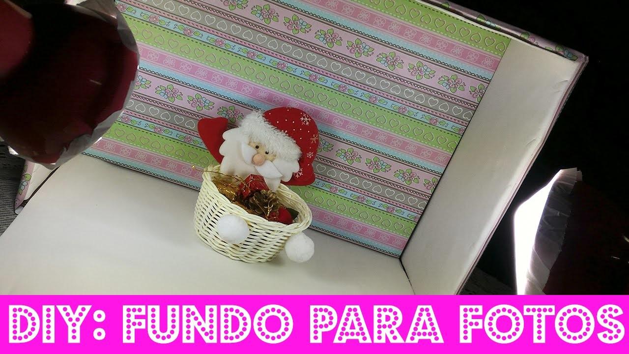 DIY: FUNDO PARA FOTOS com caixa de papelão!