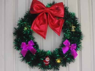 {DIY} Guirlanda decorativa para o natal - Gastando pouco! Muito fácil e prática.