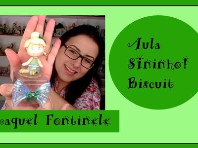 DIY- Lembrança da Sininho- Tinker Bel - Biscuit - Raquel Fontinele