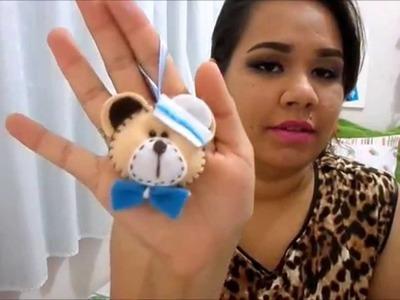 DIY:: Lembrancinha ursinho em Feltro